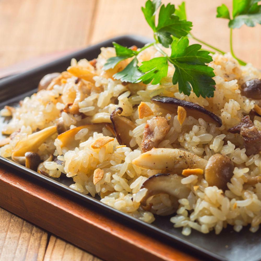 Plenty of mushroom garlic rice