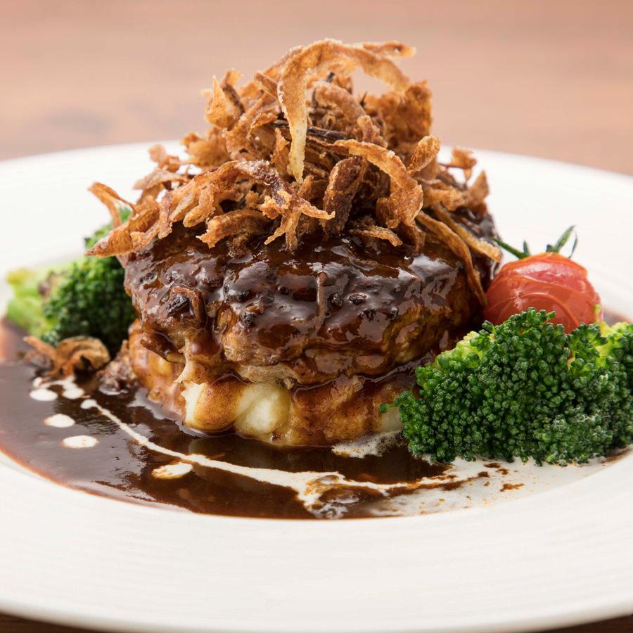 Hamburger steak with mashed potato