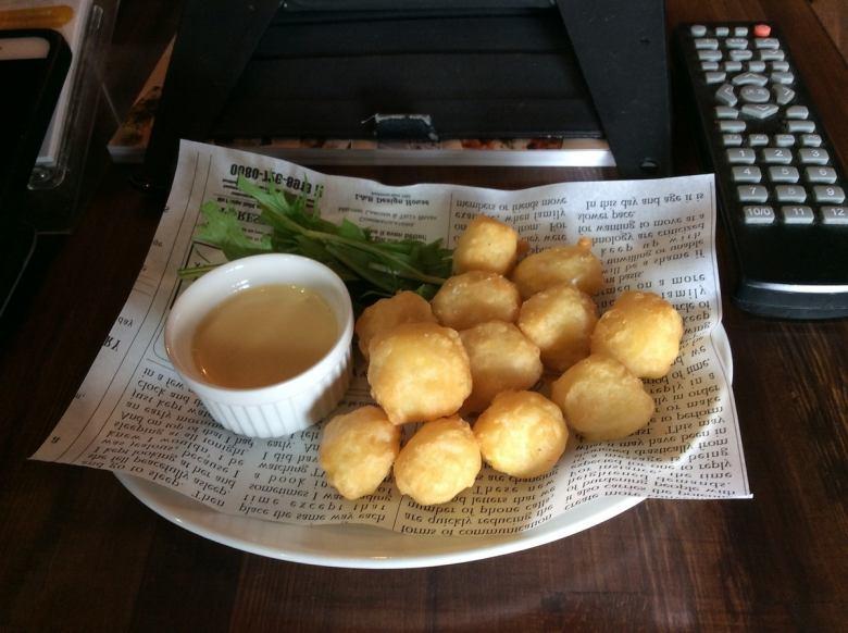 오징어 튀김의 아리오 자원 (마늘 마요네즈)