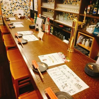 In the vibrant shop, prepare counter and table seats! There is also a private room on the table seat.Also recommended for various banquets! Of course you can also drink crisply at the counter ◎