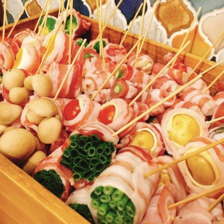 Roll around the domestic raw meat carefully around the freshly picked vegetables every morning ... ♪ Enjoy ♪