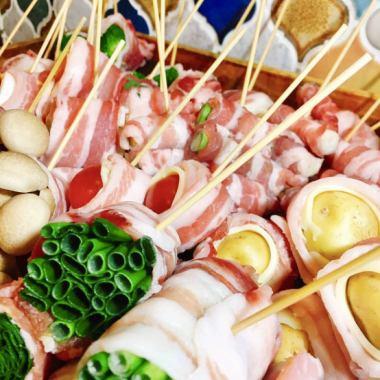 Use freshly prepared vegetables every morning ♪ Enjoy a healthy and delicious vegetable skewer ♪