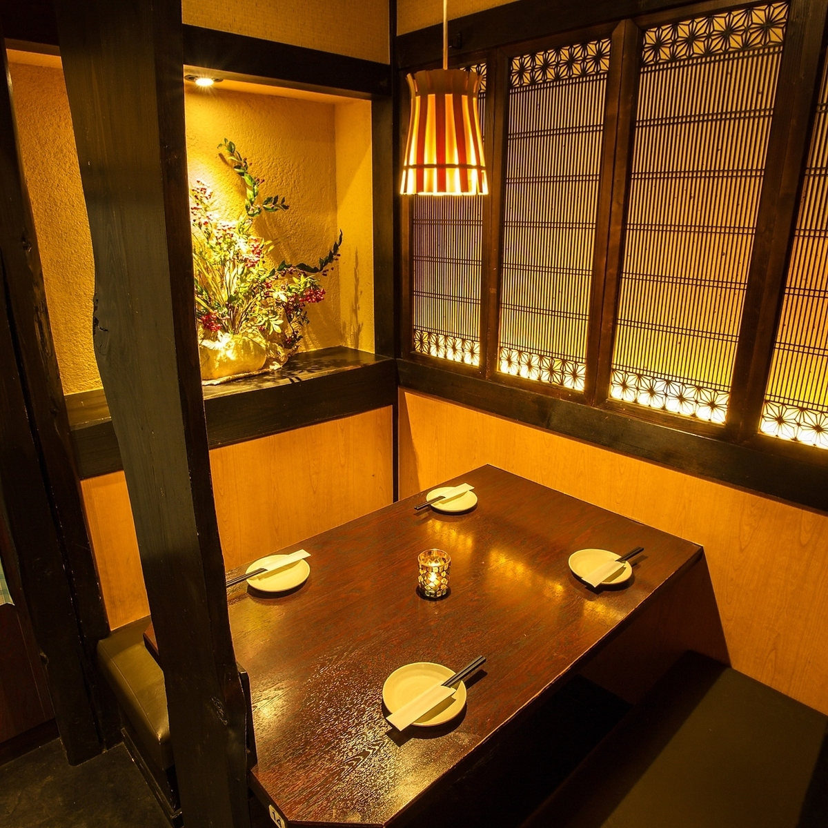 It is a semi-private room with a calm atmosphere.