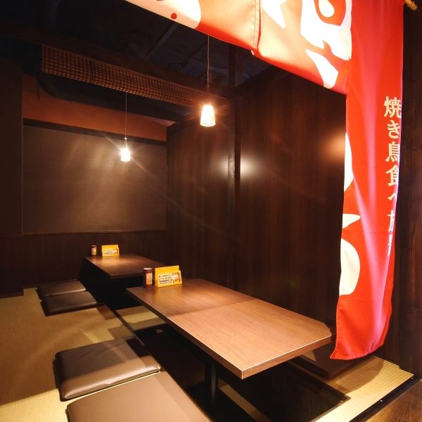 A small group of 2 to 4 people with a small number of semi-private rooms available! Please enjoy all you can eat all-you-can-eat yakitori !! ※ The photos are inside the store of affiliated stores.