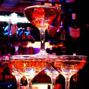 【誕生日&お祝いコース】<乾杯シャンパン付>3時間飲み放題&8品⇒2980円