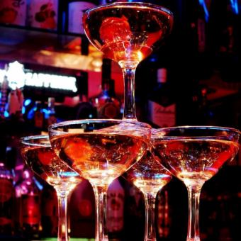【Girls' Association Limited】 <Toasts with Champagne & Dessert> 3 hours All-you-can-drink & 8 dishes ⇒ 2980 yen