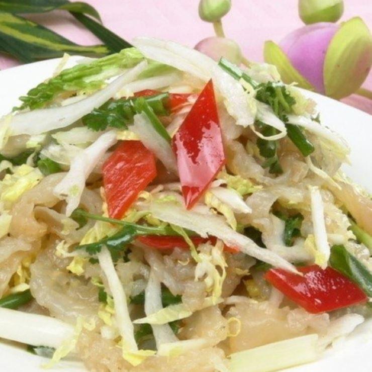해파리의 쫄깃 쫄깃한 냉채