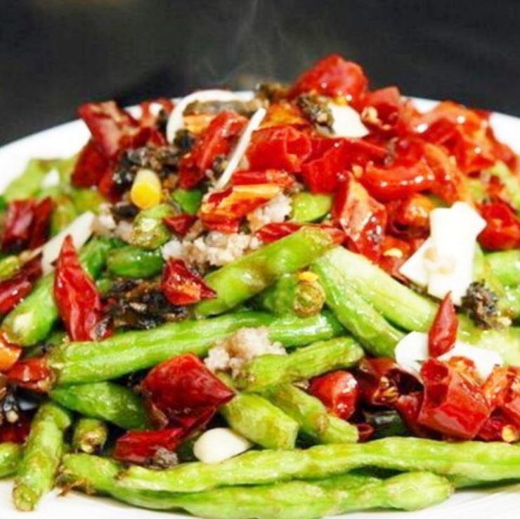 Sautéed bean spicy spicy