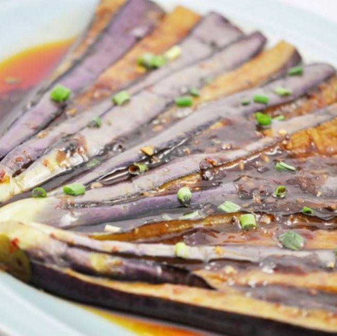 Stir-fry eggplant with sweet miso