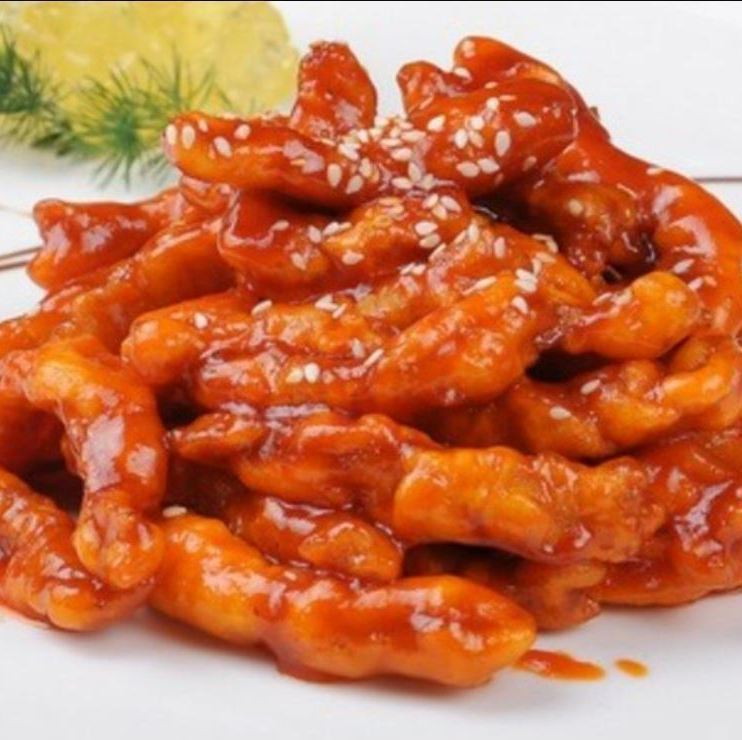 Pork loin sweet vinegar sauce