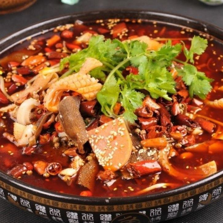 Simmered boiling of blood tofu and hormones