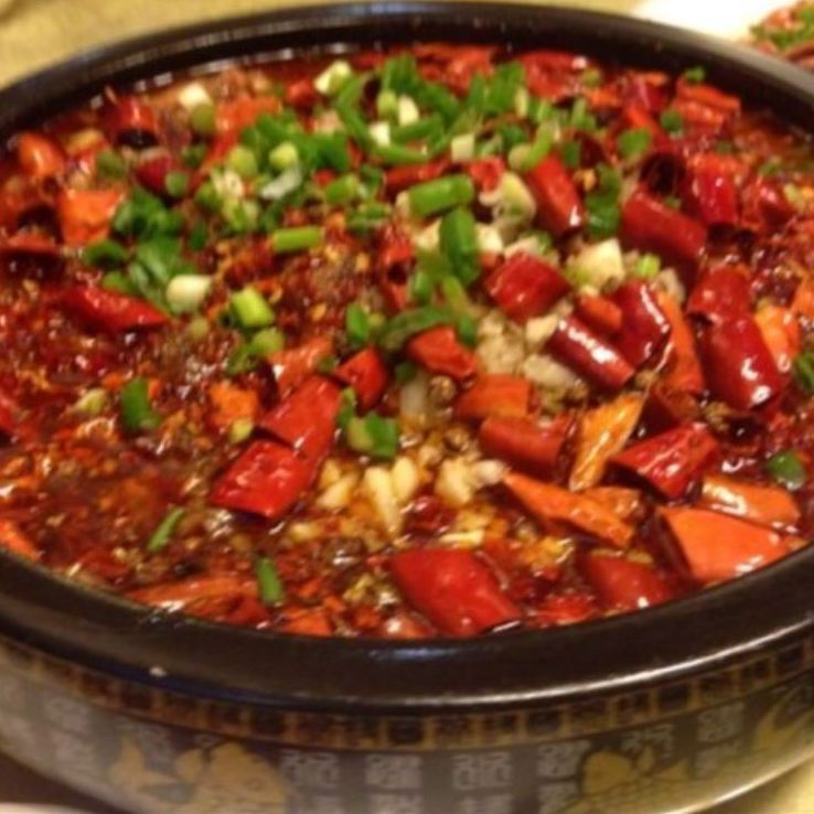 Braised beef with hot chili