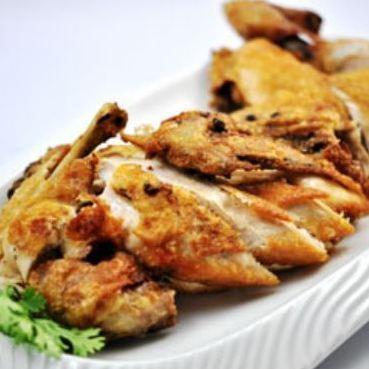 One fried shrimp of Xian chicken