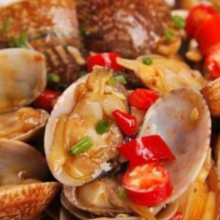Stir-fried clam clam