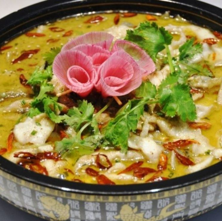 Simmered Chinese pickles and white fish