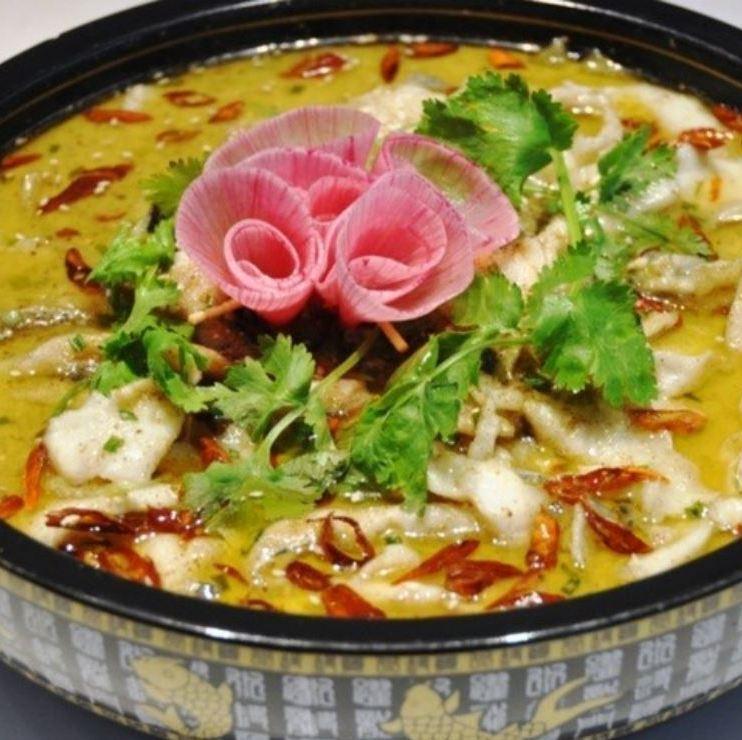 중국 절임과 흰살 생선 조림