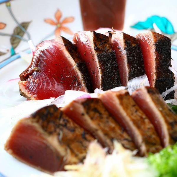 稻草烤鲣鱼(酱或盐)