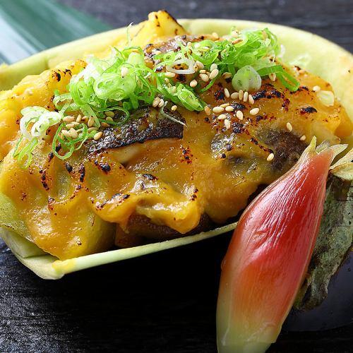 米茄子の甘味噌焼き