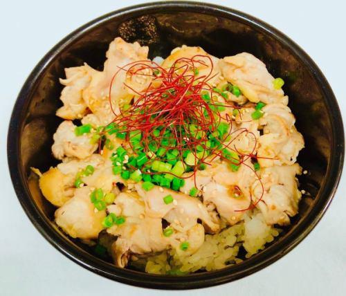 ネギ塩鶏ハラミ丼