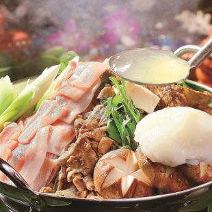 【Okinawa Skin Pork Pot ~ Akuoo Pig Collagen Balls included】 All 16 items 3H Drinking and Giving course 8,000 yen ⇒ 6,500 yen