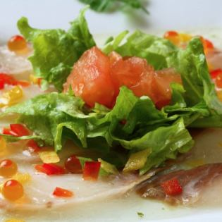 Seasonal sashimi carpaccio