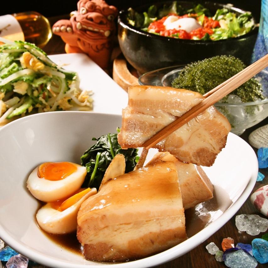 只有在这里吃的用新鲜食材的菜肴♪所做的所有商品冲绳创意料理高达40%的折扣!