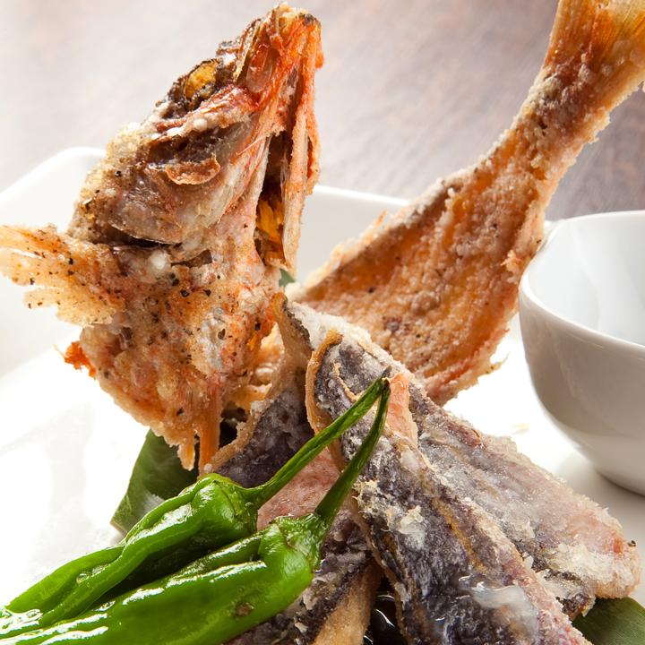 Deep fried Okinawa prefecture fish glucum