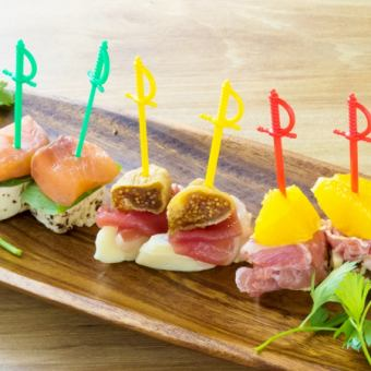 Three kinds of pinchos