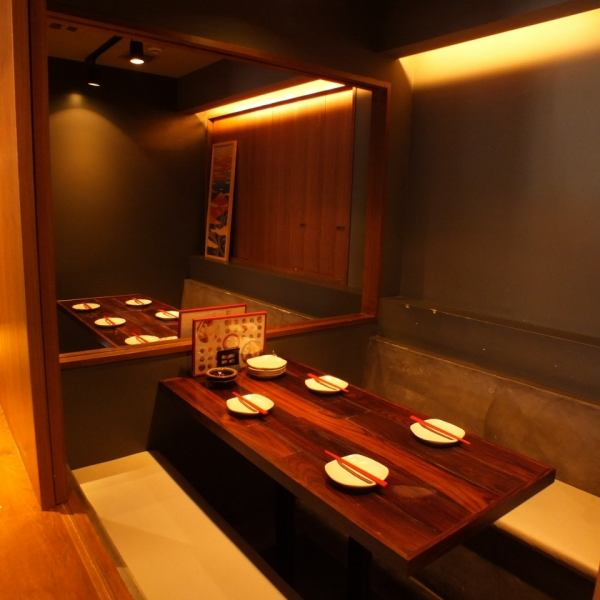 A fully-private room requiring reservation is available for 3 to 12 people.It is a private room ideal for various small and medium banquets such as year-end party and girls' party, as well as gongkong etc. There is also a course dedicated to guests wanting private rooms.