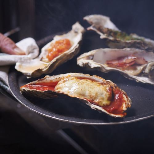 焼牡蠣3種盛合せ