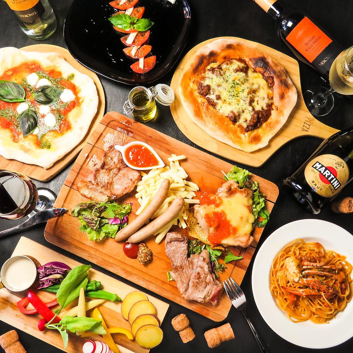 本格イタリア料理を贅沢に☆全メニューが食べ飲み放題4000円!