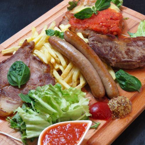 4種肉盛りプレート