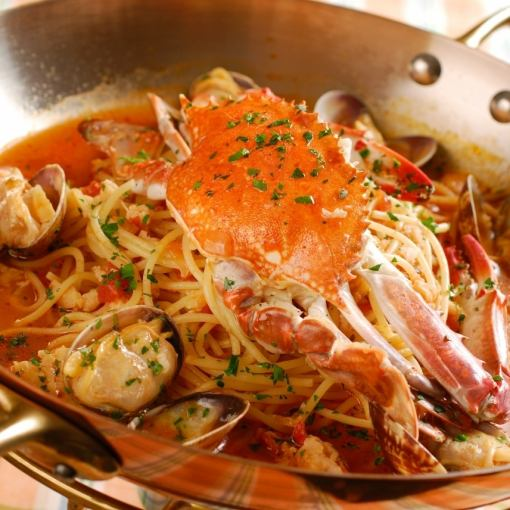 [5 items] pasta crab pasta dinner ... 2650 yen (tax excluded), 2 persons 5300 yen (tax excluded)