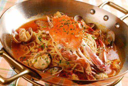 [5項目]意大利面蟹意大利面晚餐... 2650日元(不含稅),2人5300日元(不含稅)