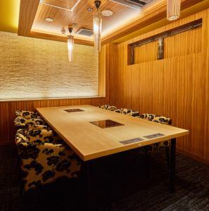人気の個室席。プライベートな空間で過ごしたい方におすすめです。