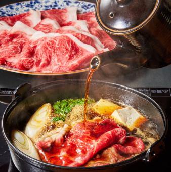 [Main is Sukiyaki / Shabu Shabu] ■ A course with all you can drink ■ 5,000 yen
