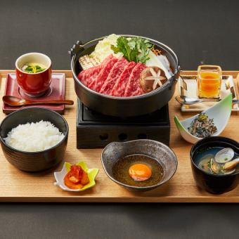 Japanese black beef sukiyaki mitake