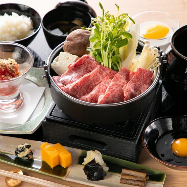 ■■ Sukiyaki / Shabu Shabu Gyoen ■■ Value set for enjoying Sukiyaki / Shabu-shabu with Japanese black beef ◎ 1980 yen
