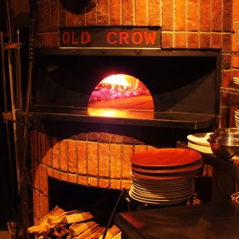 Pizza baked in a firewood kiln in the shop is an exquisite ♪