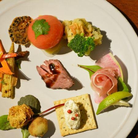 【Course of the meal】 女子会・カップルにおすすめの カジュアルコース Aプラン