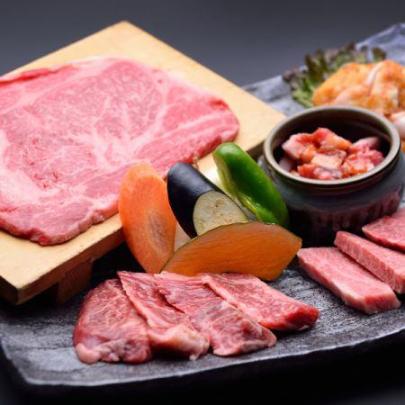 ご飯&デザートが選べる♪特大プレート和牛盛付きコース4400円相当⇒3600円