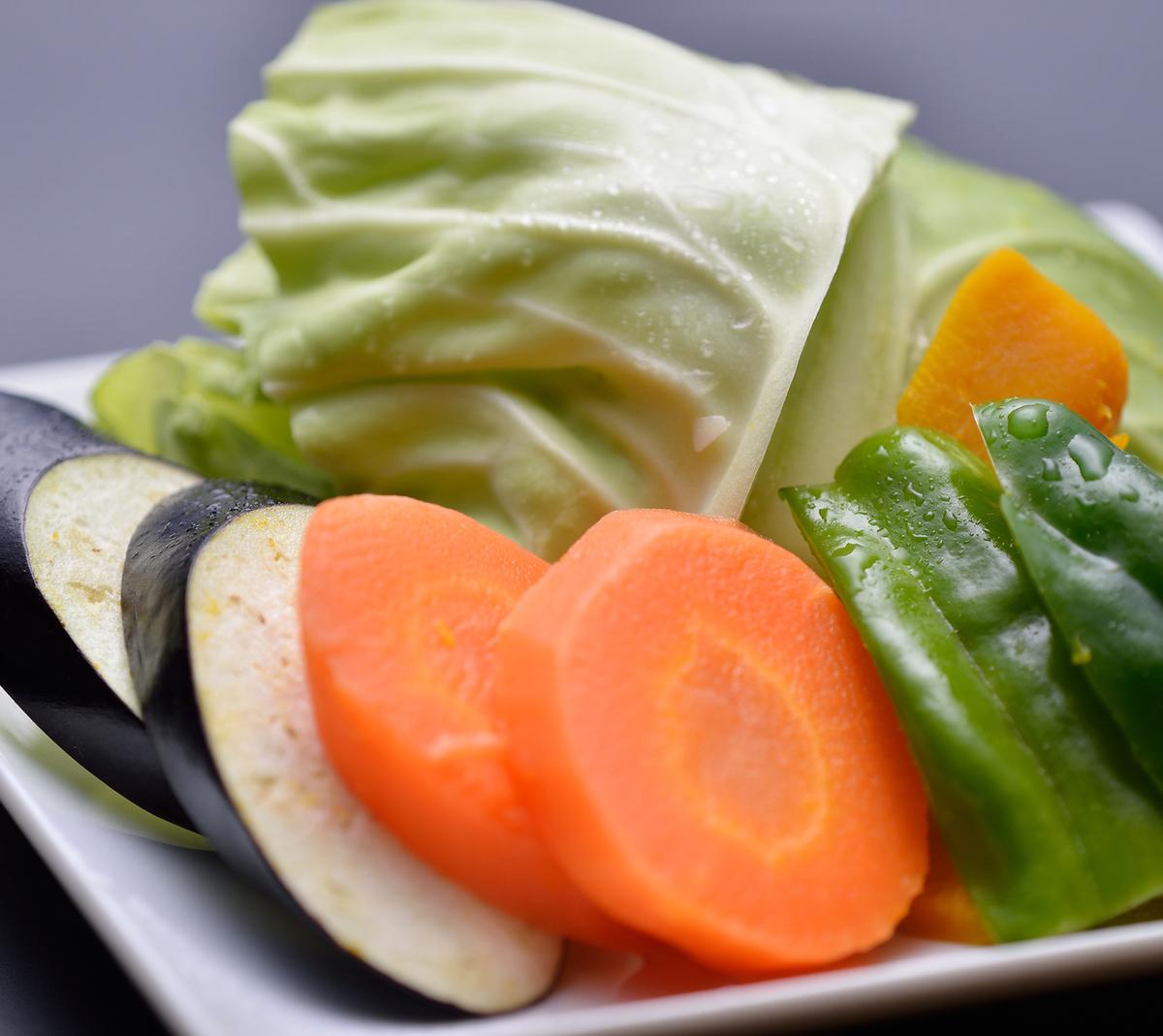 彩り焼き野菜盛り