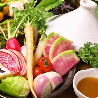 Assorted hot vegetables