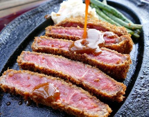 「千屋(ちや)牛肉ビーフカツレツセット」150g