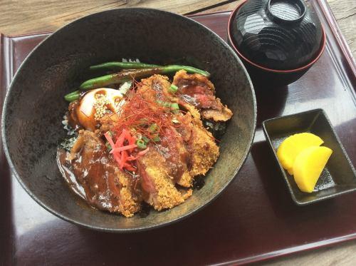 「千屋(ちや)牛肉ビーフデミカツ丼」☆シェフオリジナルデミカツ丼