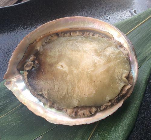 刺身用鮑(アワビ)の獺祭&蒜山ジャージーバターソテー