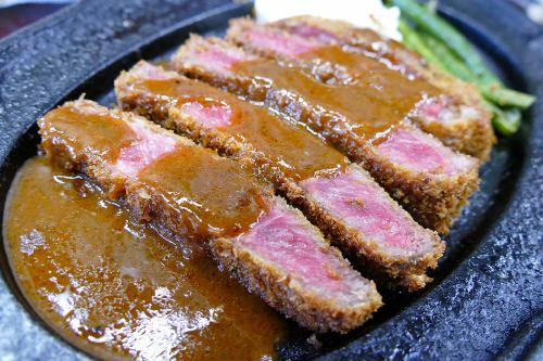 「千屋(ちや)牛肉のビーフカツレツセット」
