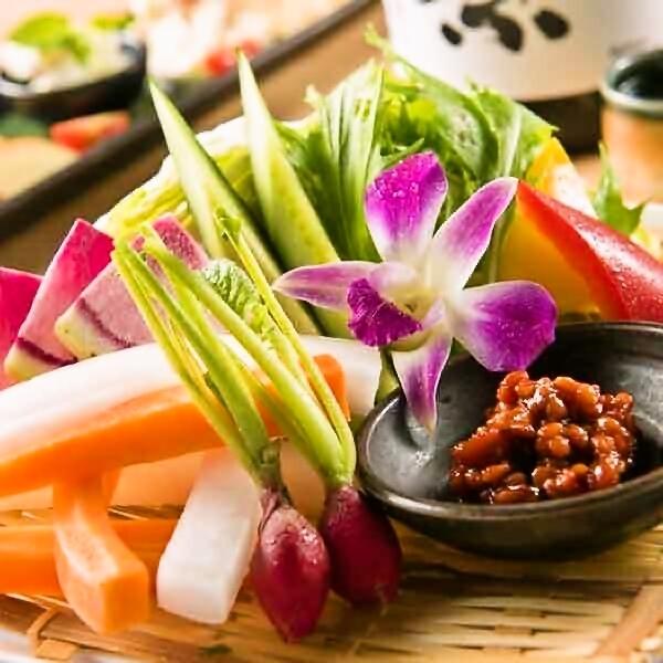 직산 야채 바구니 모듬 ~ 야채 스틱 원단 ~ 모로 된장을 곁들여 ~