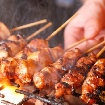 【Grilled chicken】 thigh / cartilage / skin / birds / gizzard / tsukune