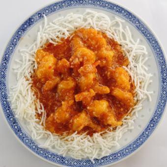 大えびのチリソース炒め(エビチリ)